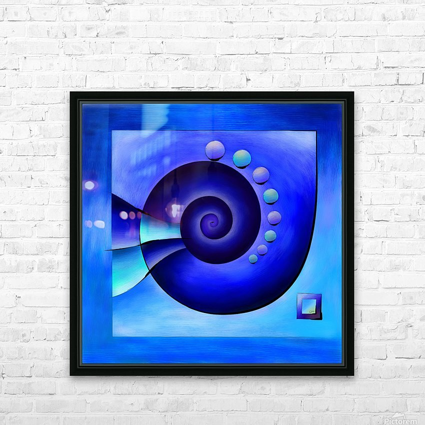 Escanissimera - endlessly limited blue spiral snail HD Sublimation Metal print with Decorating Float Frame (BOX)