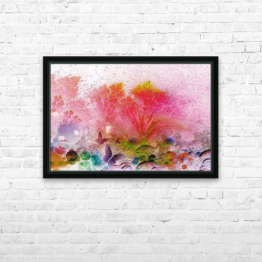 soft wind 6 HD Sublimation Metal print with Decorating Float Frame (BOX)