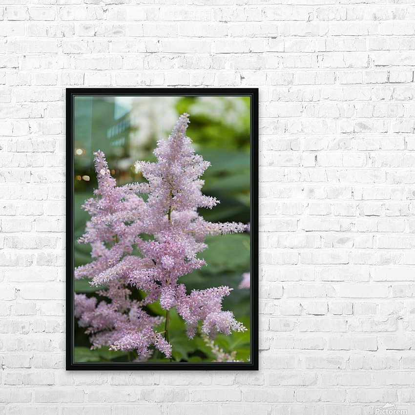 Pink Astilbe 1 HD Sublimation Metal print with Decorating Float Frame (BOX)