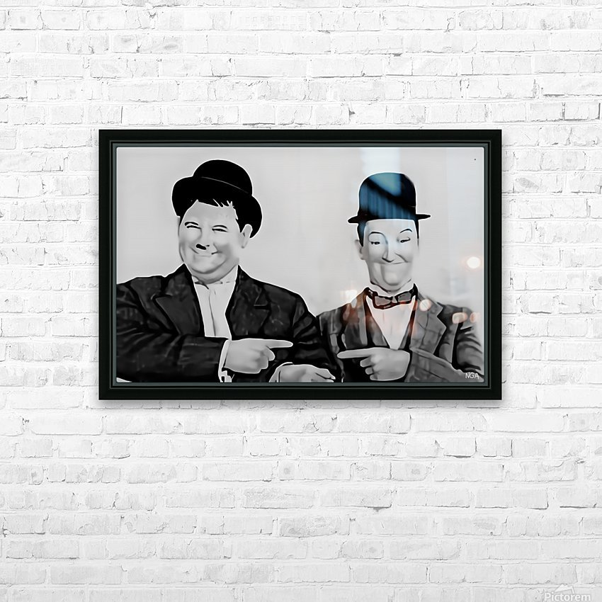 Laurel and Hardy -  by Neil Gairn Adams  HD Sublimation Metal print with Decorating Float Frame (BOX)