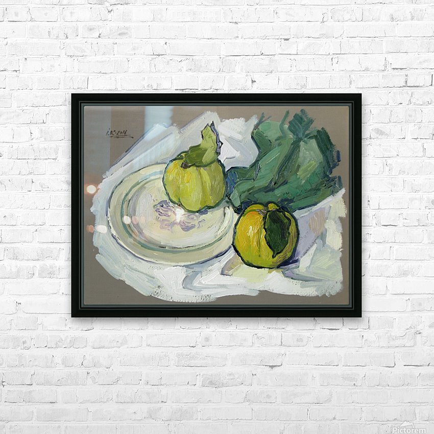 Still Life with Quince HD Sublimation Metal print with Decorating Float Frame (BOX)
