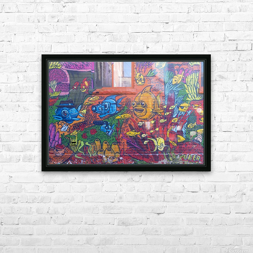 Torontos Graffiti Alley  17 HD Sublimation Metal print with Decorating Float Frame (BOX)