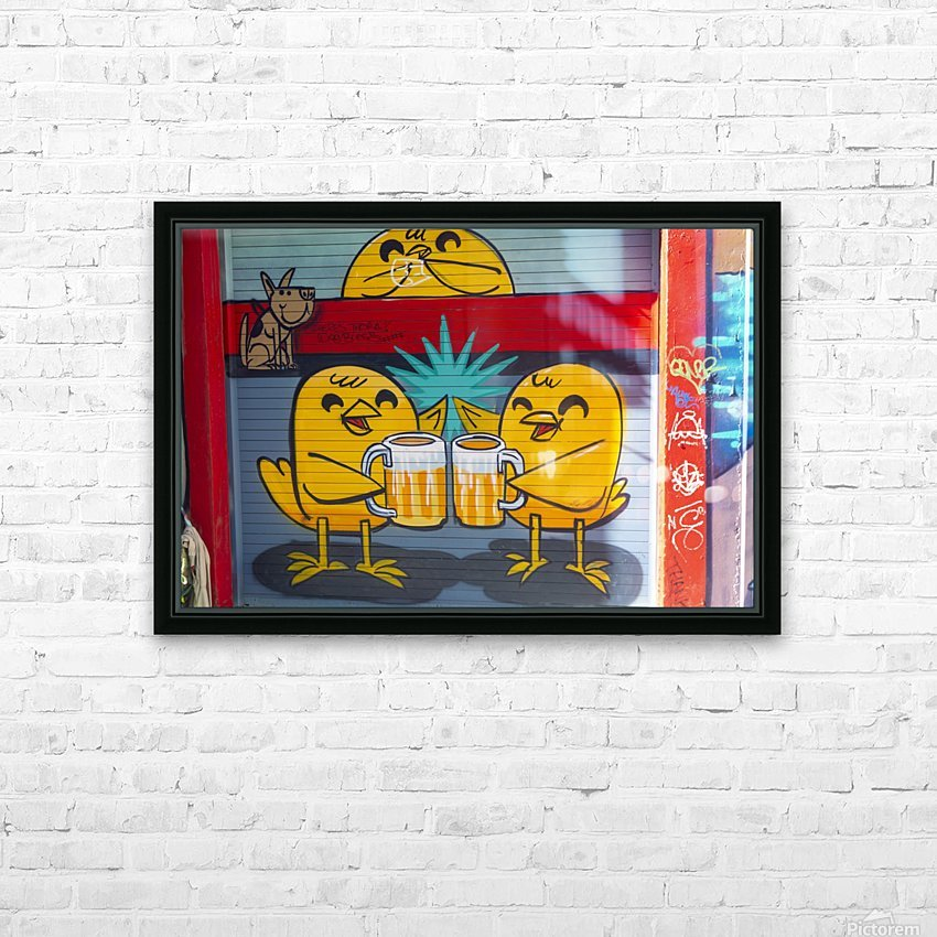 Torontos Graffiti Alley  61 HD Sublimation Metal print with Decorating Float Frame (BOX)