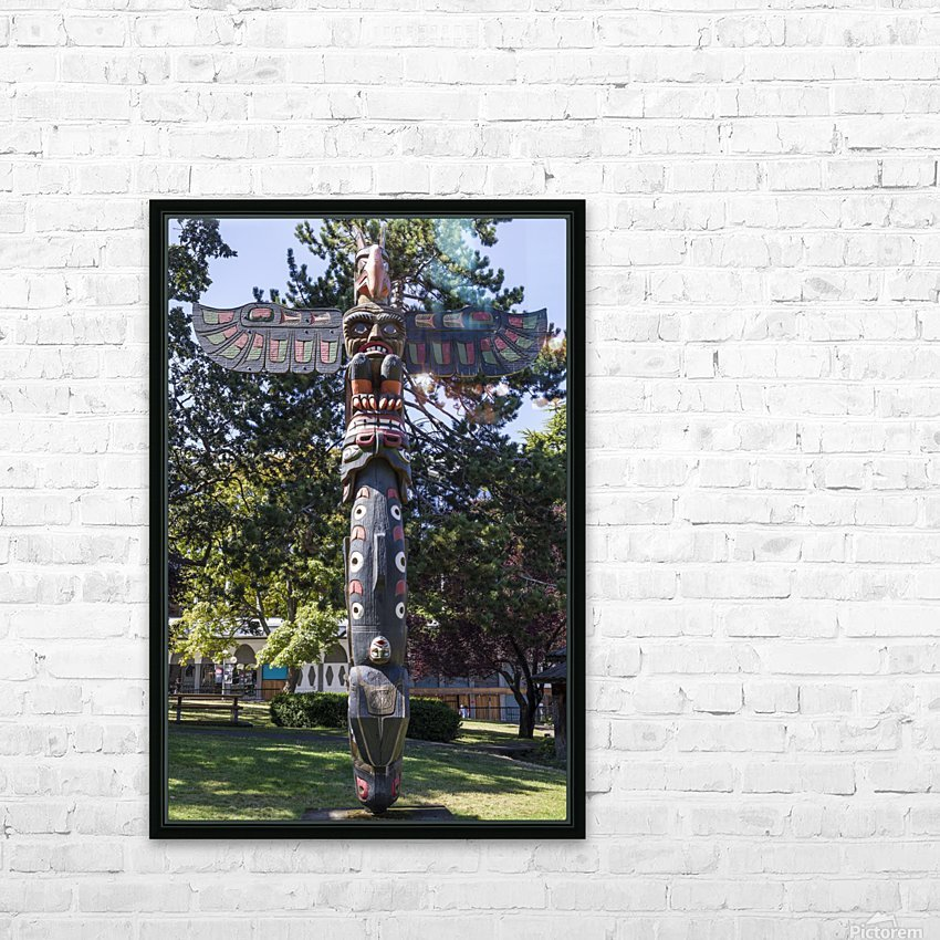 Totem Poles in Thunderbird Park Victoria BC 11 HD Sublimation Metal print with Decorating Float Frame (BOX)