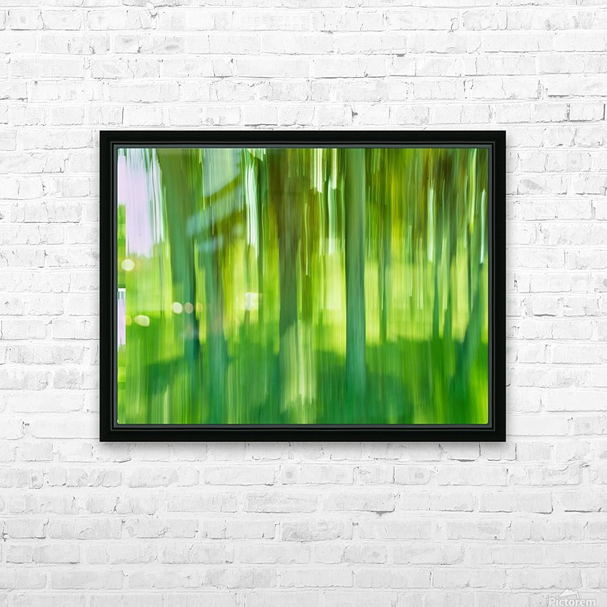 Moving Trees 12 Green Landscape 52-70 360px HD Sublimation Metal print with Decorating Float Frame (BOX)