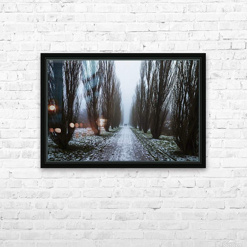 Symetric walk path in fog HD Sublimation Metal print with Decorating Float Frame (BOX)