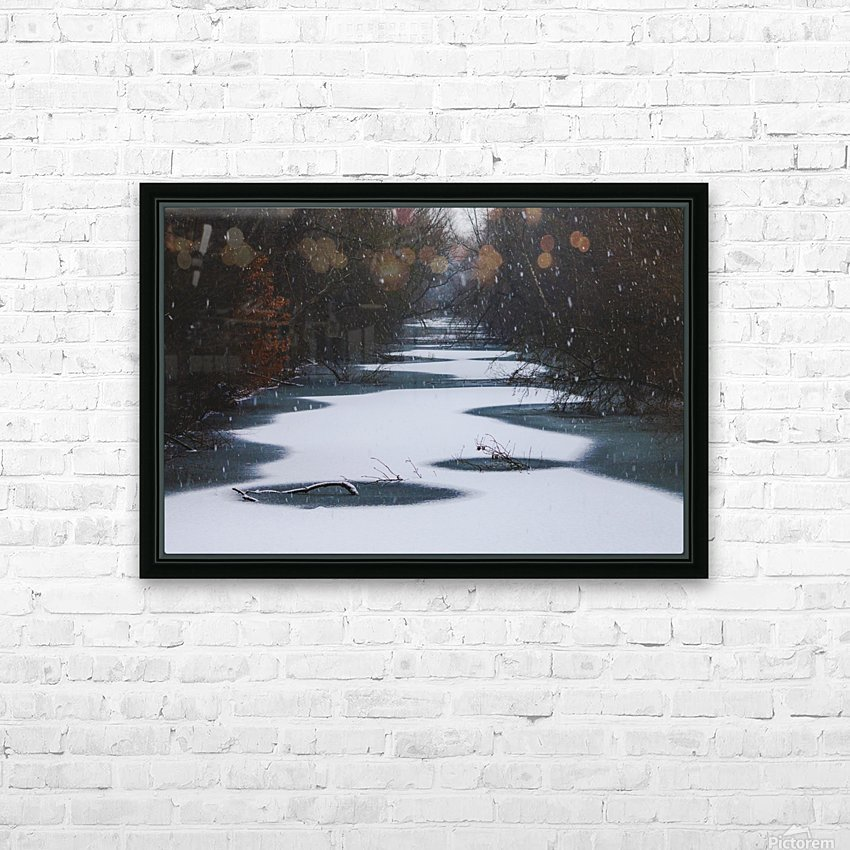 Snow in the Fæstningskanalen HD Sublimation Metal print with Decorating Float Frame (BOX)