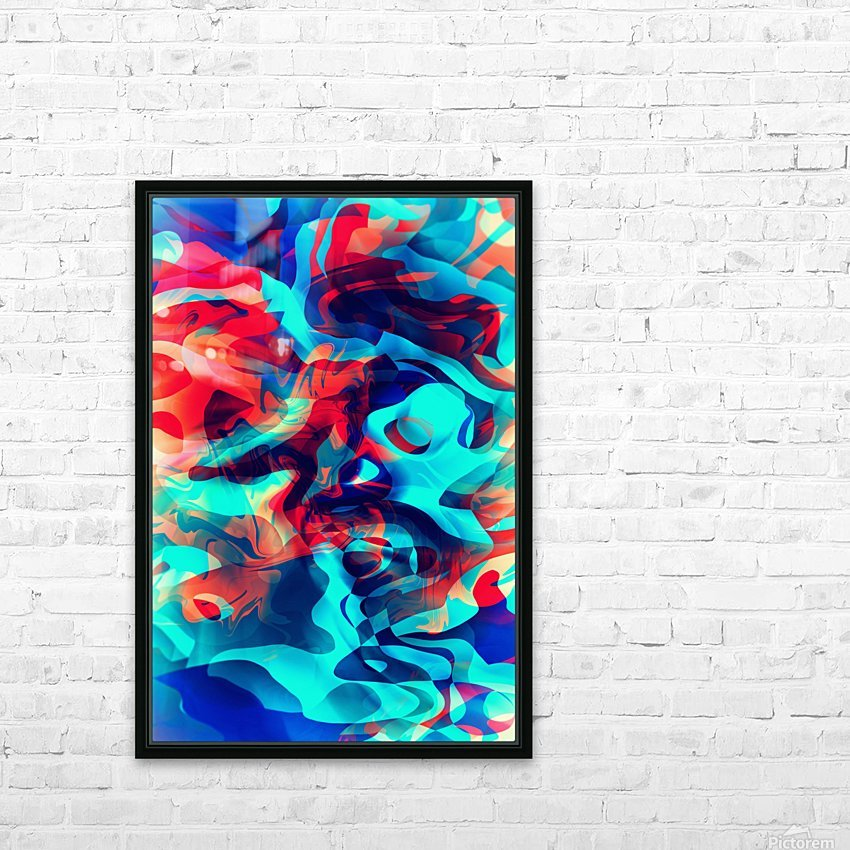 VIVID Abstraction II HD Sublimation Metal print with Decorating Float Frame (BOX)