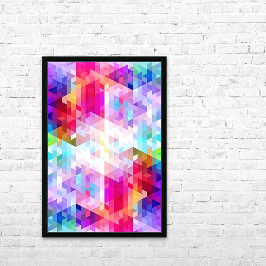 VIVID PATTERN VIII HD Sublimation Metal print with Decorating Float Frame (BOX)
