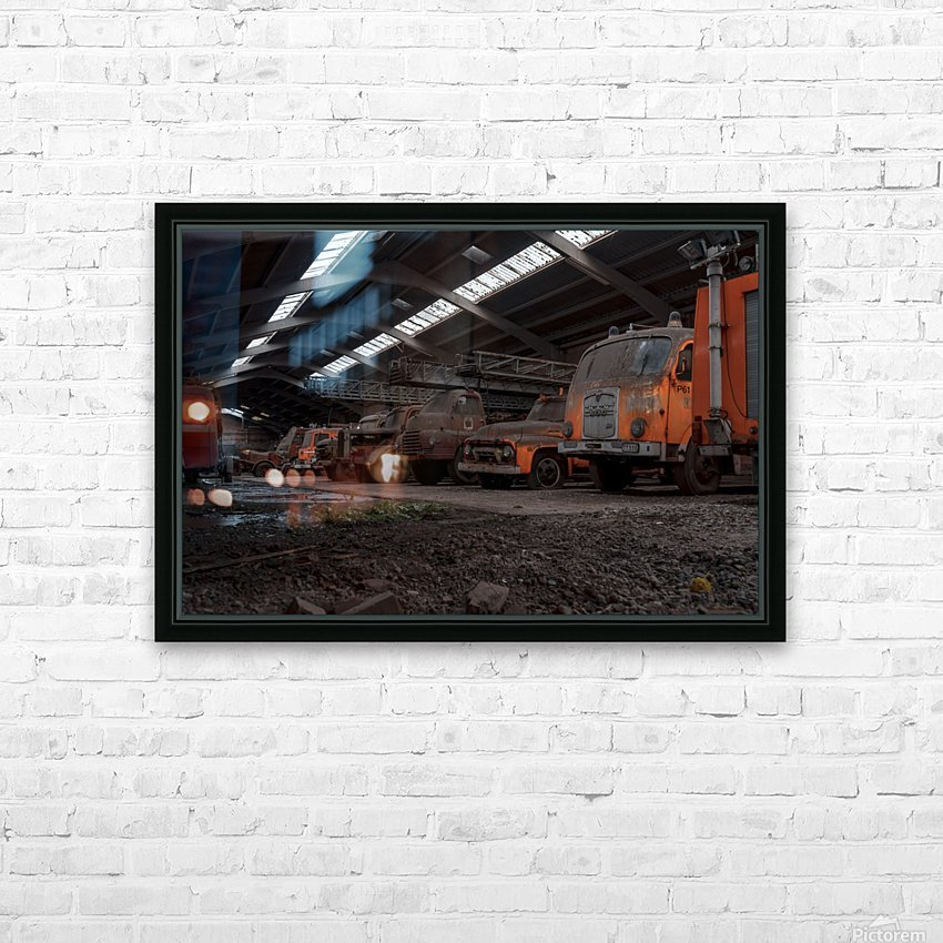 Abandoned Fire Truck Graveyard HD Sublimation Metal print with Decorating Float Frame (BOX)