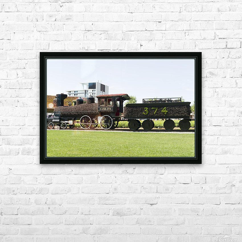 CPR train 374 HD Sublimation Metal print with Decorating Float Frame (BOX)