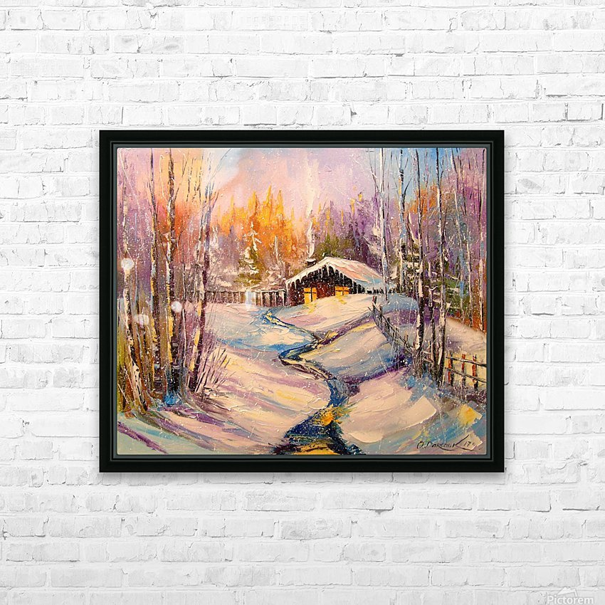 Winter morning HD Sublimation Metal print with Decorating Float Frame (BOX)
