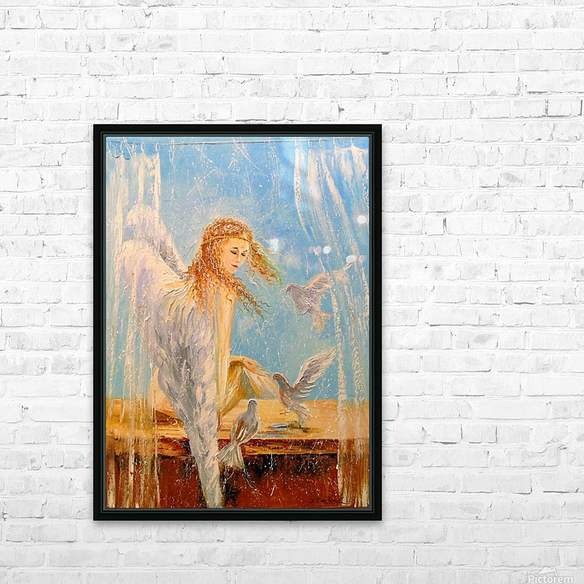 Angel on the window HD Sublimation Metal print with Decorating Float Frame (BOX)