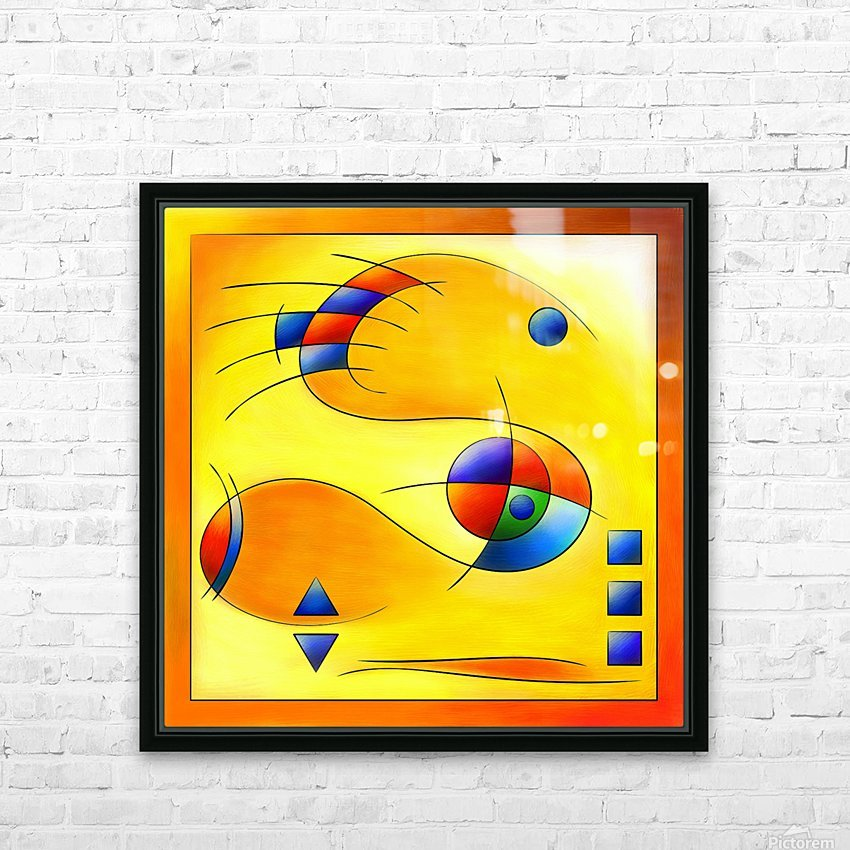 Mesmezegoria - another colourful abstract HD Sublimation Metal print with Decorating Float Frame (BOX)