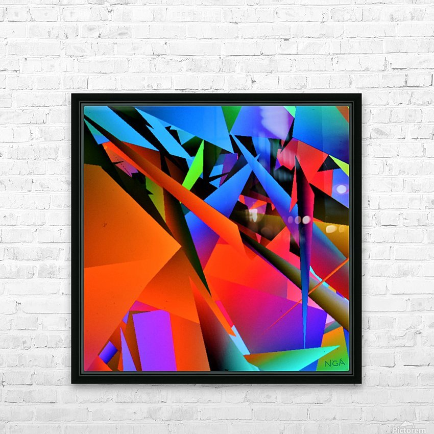 Dimensions -  bY Neil Gairn Adams  HD Sublimation Metal print with Decorating Float Frame (BOX)