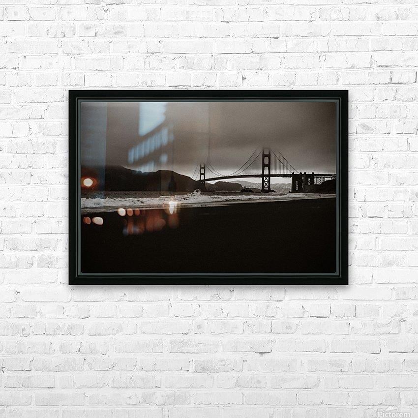B&W Golden Gate HD sublimation métal imprimé avec décoration flotteur cadre (boîte)