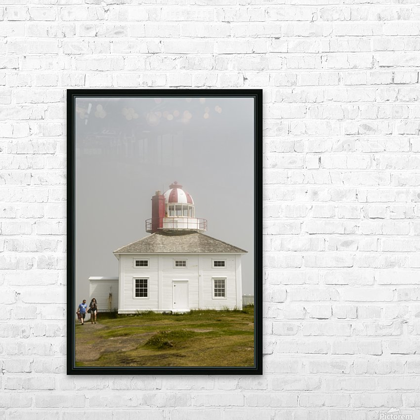 Original Cape Spear Lightkeepers house and light tower built in 1836 2 HD Sublimation Metal print with Decorating Float Frame (BOX)