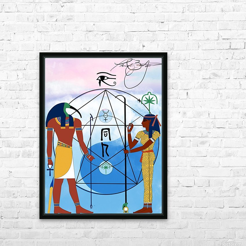 Egyptian Yin and Yang  HD Sublimation Metal print with Decorating Float Frame (BOX)