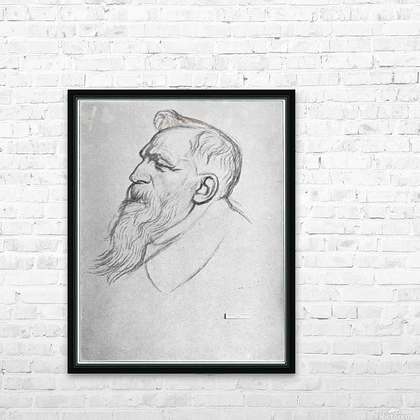 Auguste Rodin HD Sublimation Metal print with Decorating Float Frame (BOX)