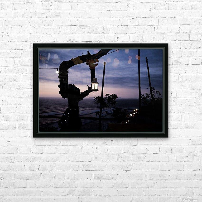 Lanterne de Lima HD Sublimation Metal print with Decorating Float Frame (BOX)