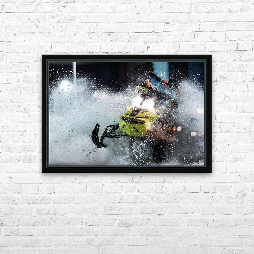Chez nous c'est Ski-doo  HD Sublimation Metal print with Decorating Float Frame (BOX)