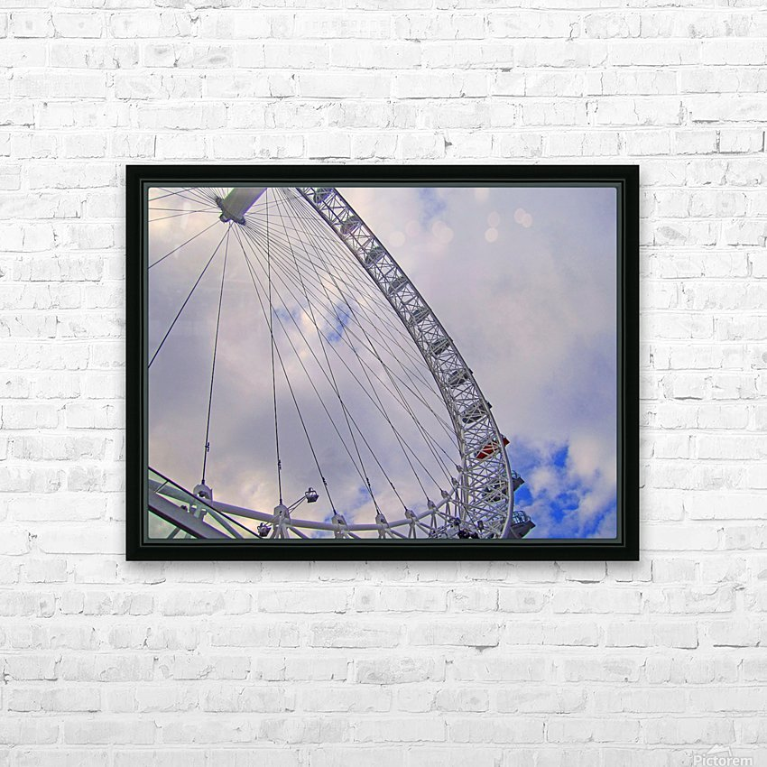 Looking up at The London Eye HD Sublimation Metal print with Decorating Float Frame (BOX)