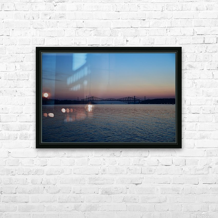 Le pont de Québec a 100 ans HD Sublimation Metal print with Decorating Float Frame (BOX)