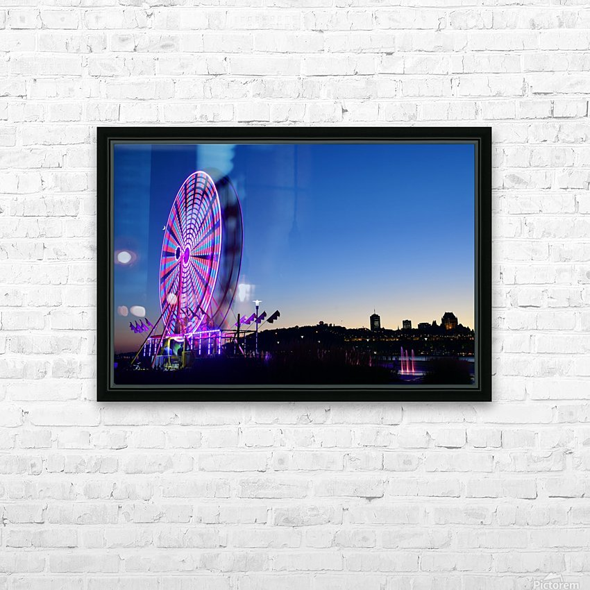 La Grande Roue HD Sublimation Metal print with Decorating Float Frame (BOX)