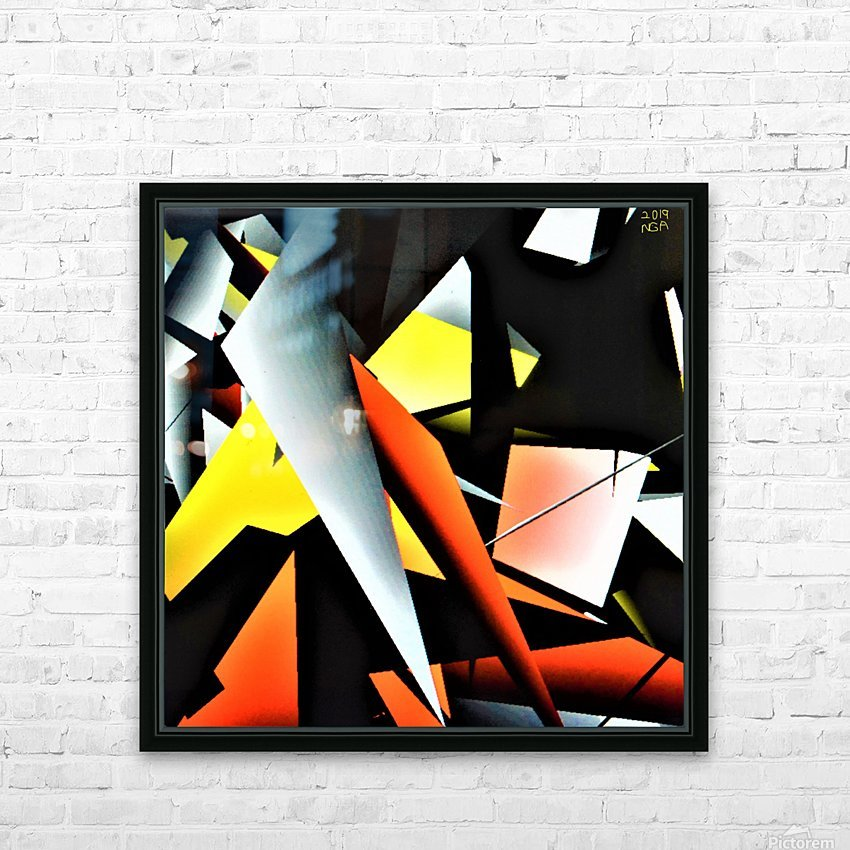 More Shapes -  by Neil Gairn Adams  HD Sublimation Metal print with Decorating Float Frame (BOX)