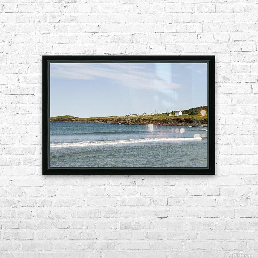 Elliston Newfoundland Coastline 15 HD Sublimation Metal print with Decorating Float Frame (BOX)