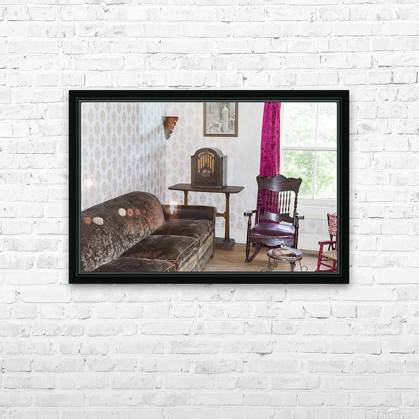 1920s living room HD Sublimation Metal print with Decorating Float Frame (BOX)