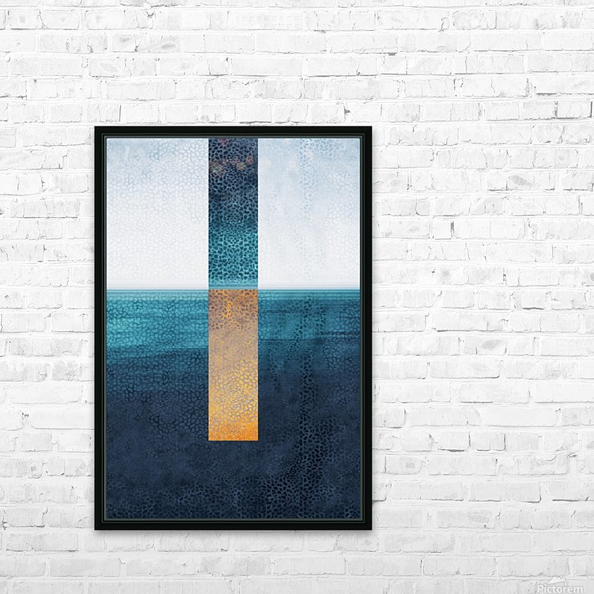 Modern Art I HD Sublimation Metal print with Decorating Float Frame (BOX)