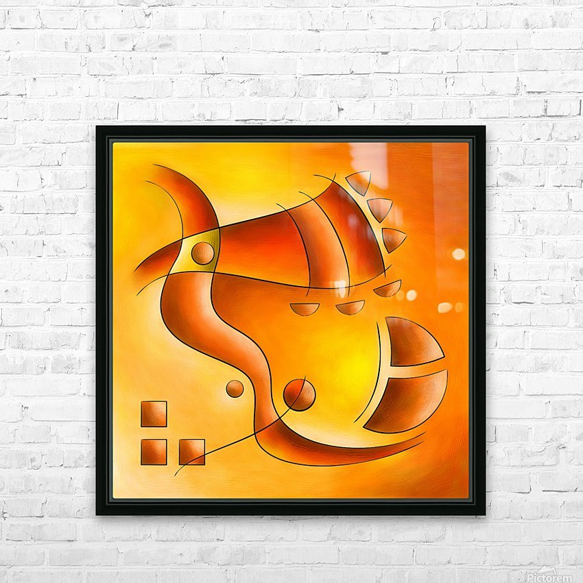 Sankhiassa - dragonfly with orange sky HD Sublimation Metal print with Decorating Float Frame (BOX)