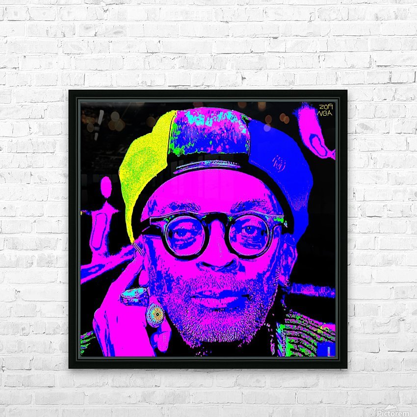Spike Lee  -  by Neil Gairn Adams  HD Sublimation Metal print with Decorating Float Frame (BOX)