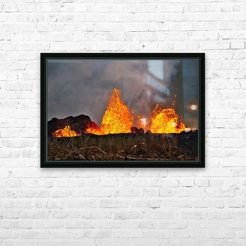 Leilani Estates Lava fountain HD Sublimation Metal print with Decorating Float Frame (BOX)