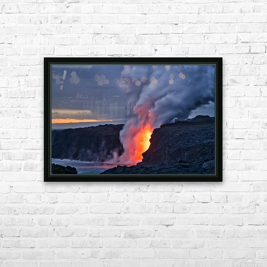Lava hose HD Sublimation Metal print with Decorating Float Frame (BOX)