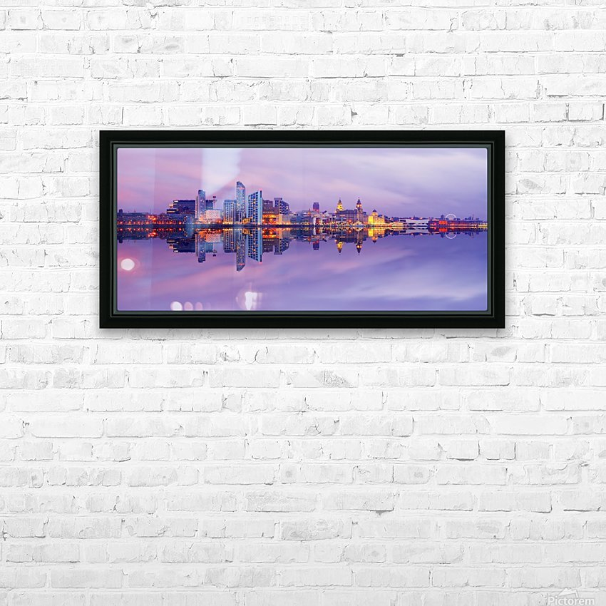 LIV 007 Liverpool Skyline   PANORAMIC_1549590966.45 HD Sublimation Metal print with Decorating Float Frame (BOX)