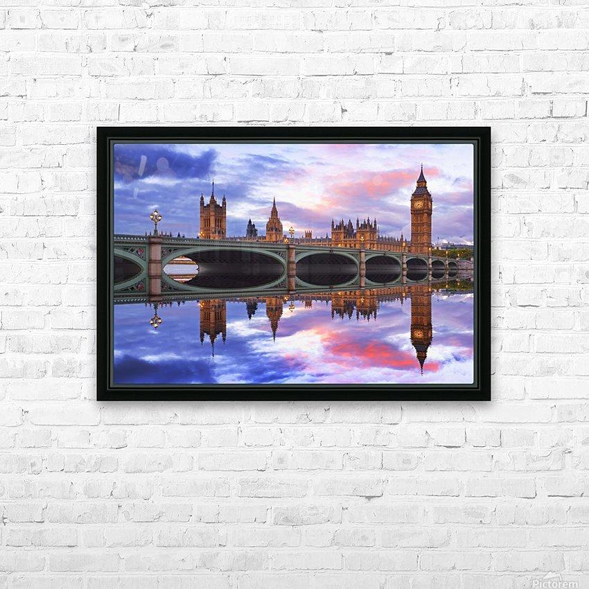 LON 005 Big Ben  HD Sublimation Metal print with Decorating Float Frame (BOX)
