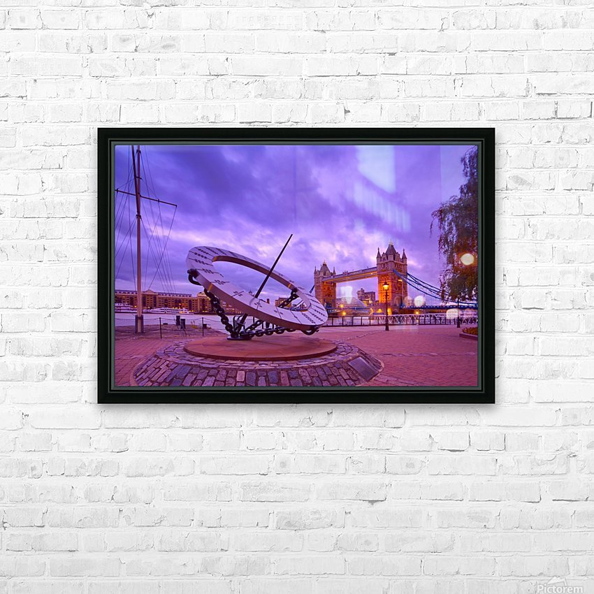 Sundial and Tower Bridge HD Sublimation Metal print with Decorating Float Frame (BOX)