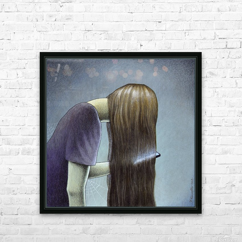 hair HD Sublimation Metal print with Decorating Float Frame (BOX)