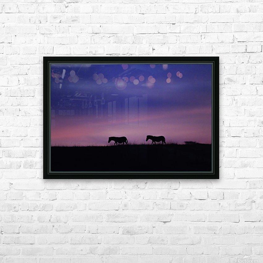 Zebra Sunrise HD Sublimation Metal print with Decorating Float Frame (BOX)