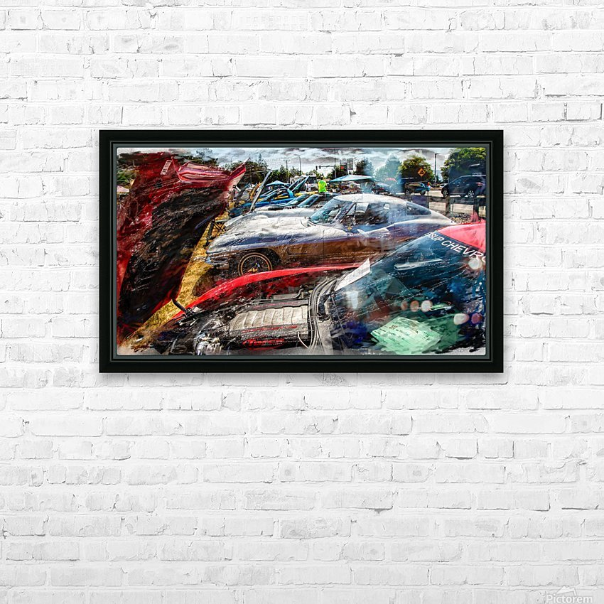 Corvette Row HD Sublimation Metal print with Decorating Float Frame (BOX)