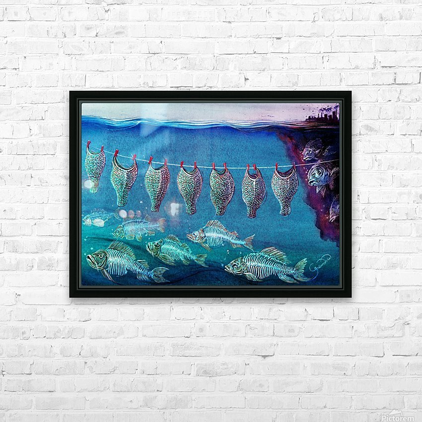 Fish cleaning by Krzysztof Grzondziel HD Sublimation Metal print with Decorating Float Frame (BOX)
