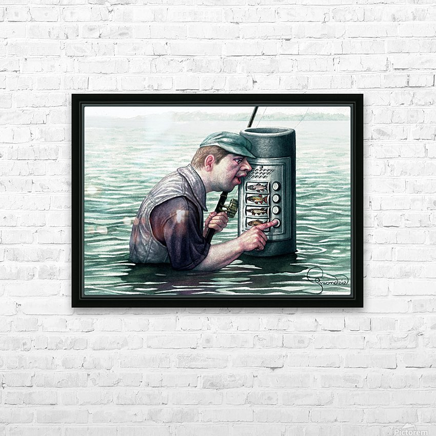 Call for fish by Krzysztof Grzondziel HD Sublimation Metal print with Decorating Float Frame (BOX)