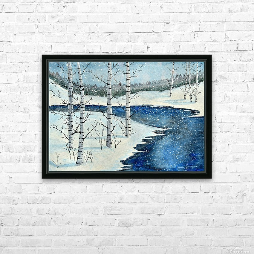 Winter Blues HD Sublimation Metal print with Decorating Float Frame (BOX)