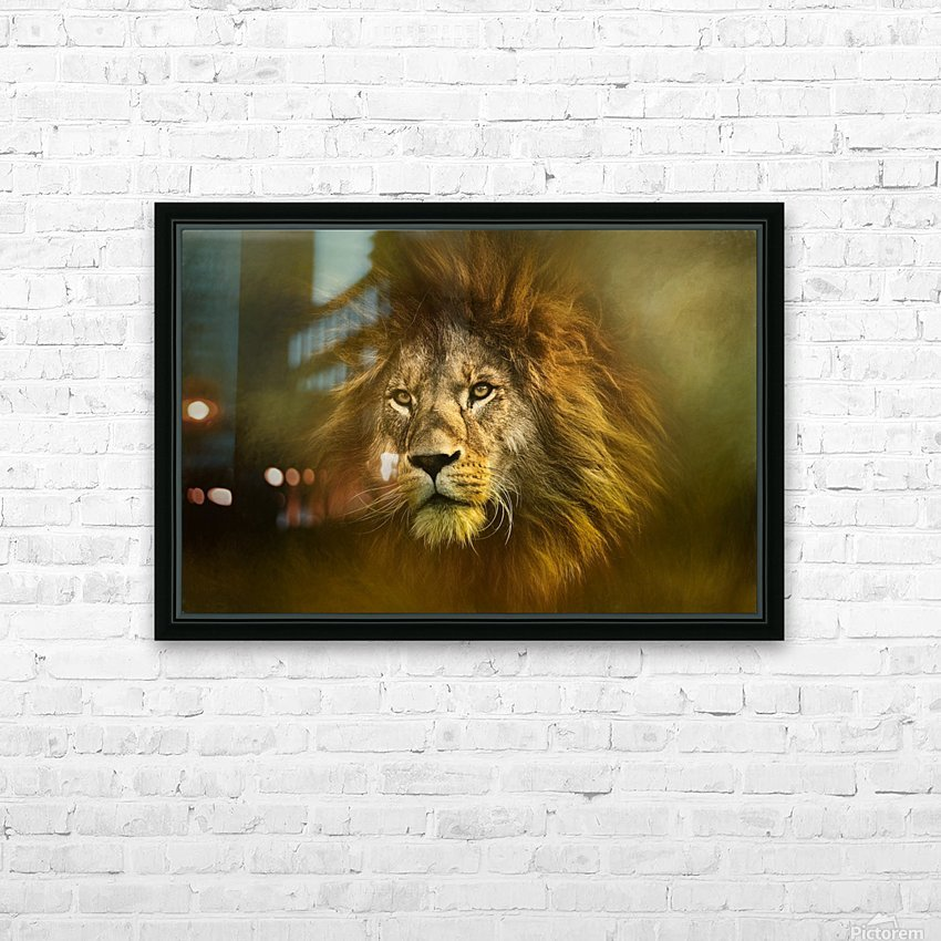 Lion King HD Sublimation Metal print with Decorating Float Frame (BOX)