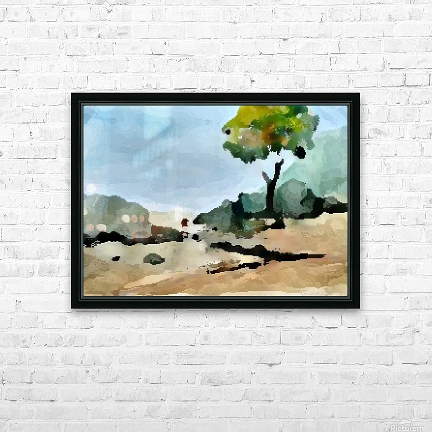 Tree sand water HD Sublimation Metal print with Decorating Float Frame (BOX)
