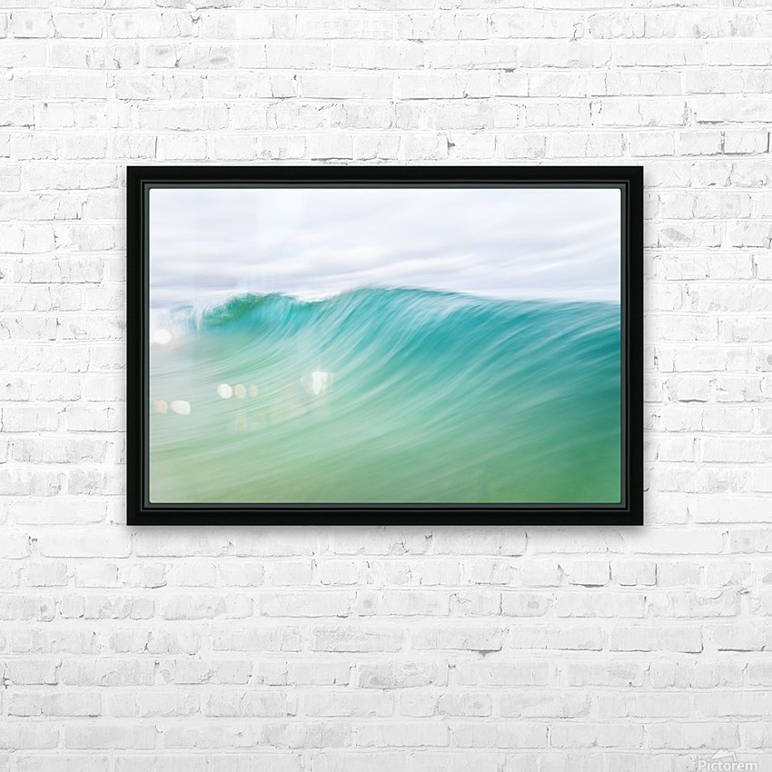CANARY WAVES 2. HD Sublimation Metal print with Decorating Float Frame (BOX)