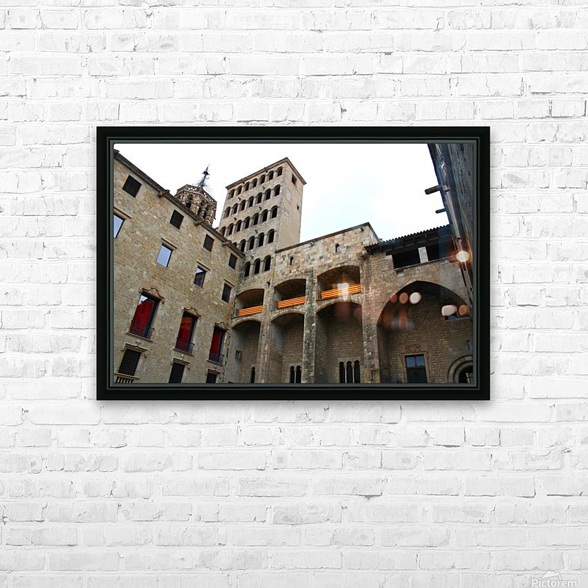 Barcelona Gothic Quarter HD Sublimation Metal print with Decorating Float Frame (BOX)