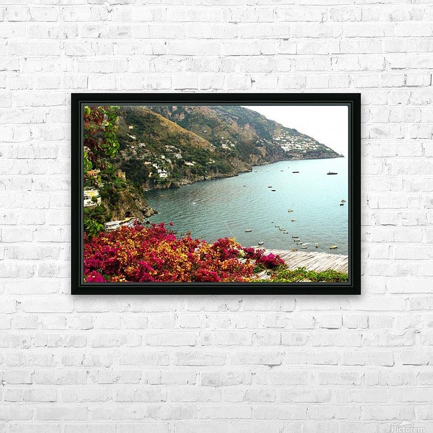 Amalfi Coast landscape  HD Sublimation Metal print with Decorating Float Frame (BOX)
